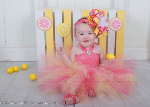 Pink Yellow Tutu Dress for Toddler Newborn