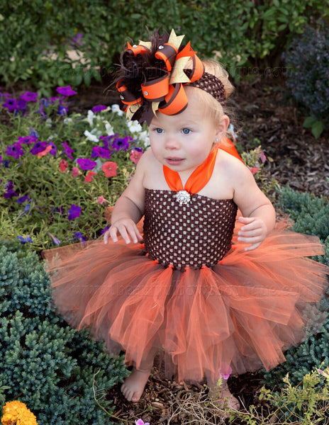 Baby Girl Fall Harvest Tutu Dress