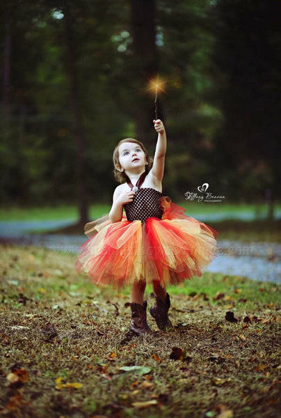 Toddler Fall Tulle Tutu Dress