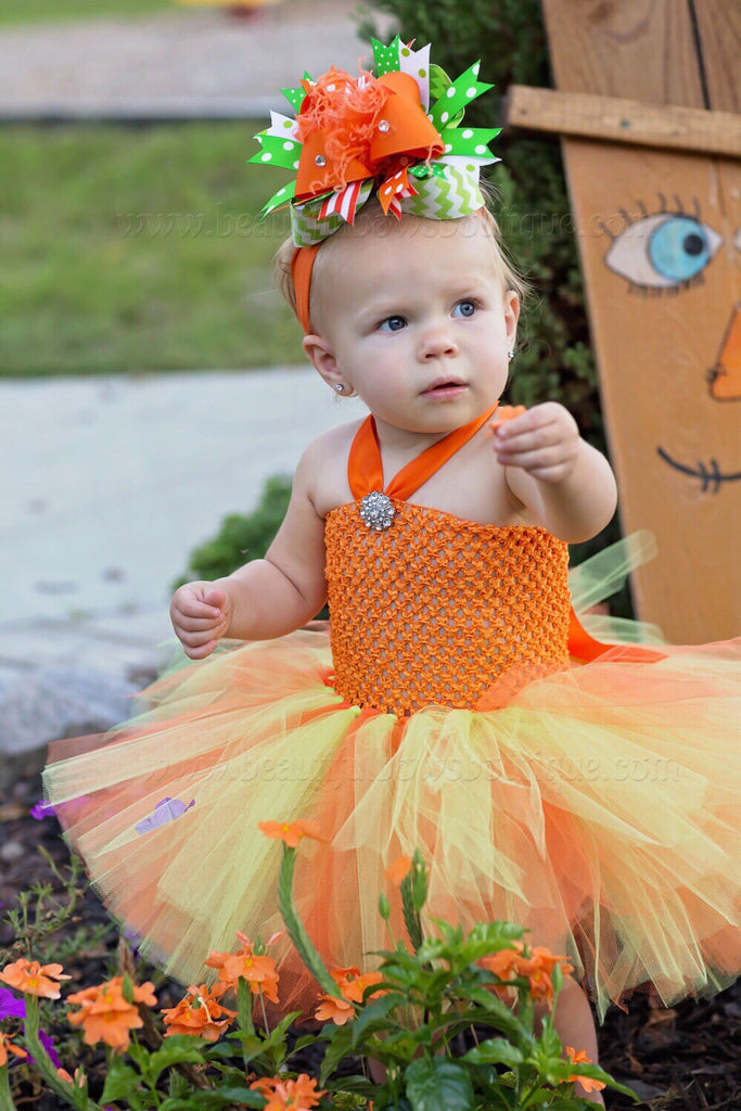 92e7784ef Buy Orange and Green Pumpkin Baby Tutu Outfit Online at Beautiful ...
