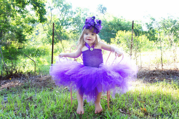 Infant Toddler Purple Tulle Tutu Dress