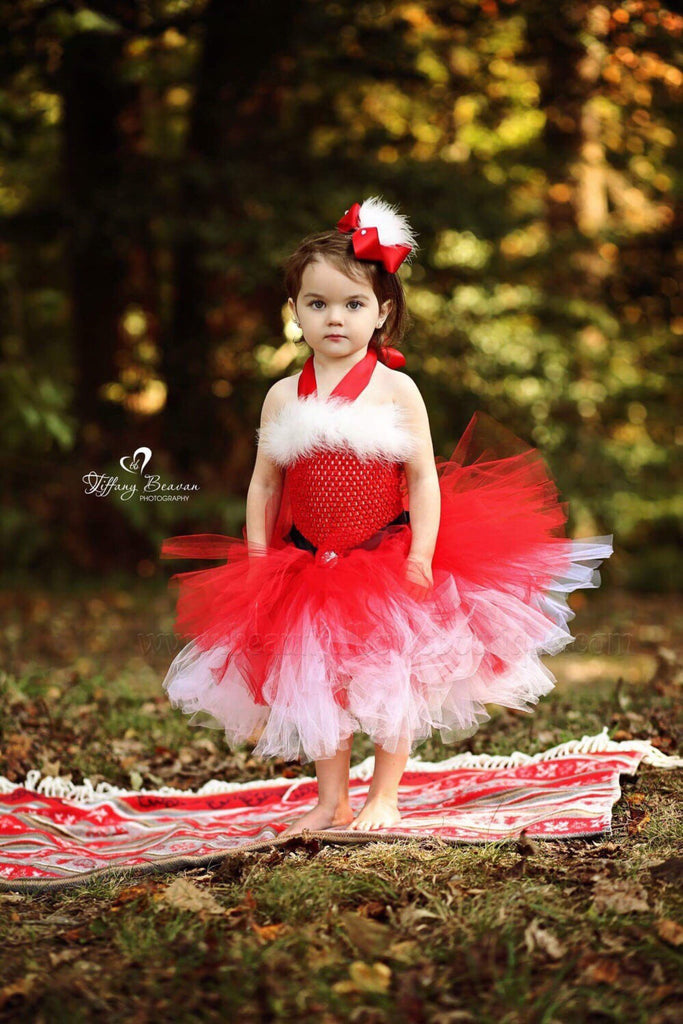 Christmas Mrs Claus Tutu Dress Baby Toddler