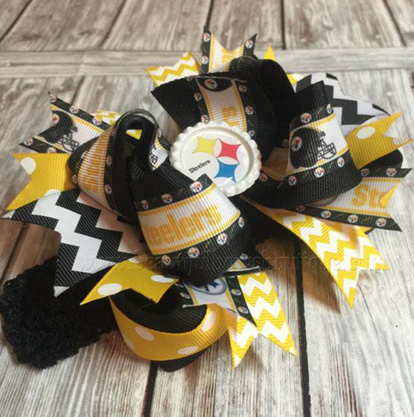 Pittsburgh Steelers Baby Headband Steelers Hair Bow