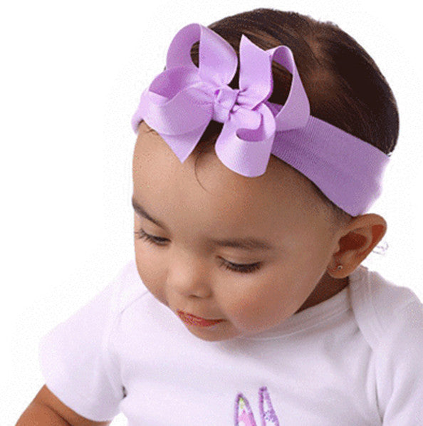 "Small Simple Grosgrain Hair Bow Clip 3""-CHOOSE COLOR"