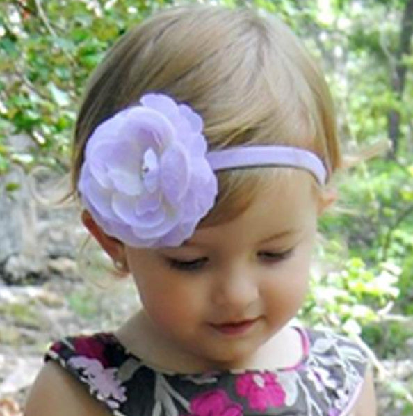 Lavender Glamour Flower Clip or Headband