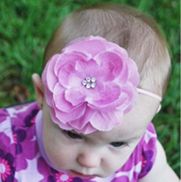 Mauve Glamour Flower Bitty Flower Headband