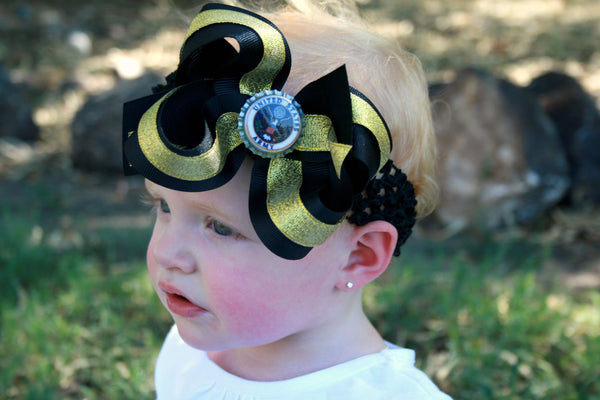 Army Girls Hair Bow Clip or Headband