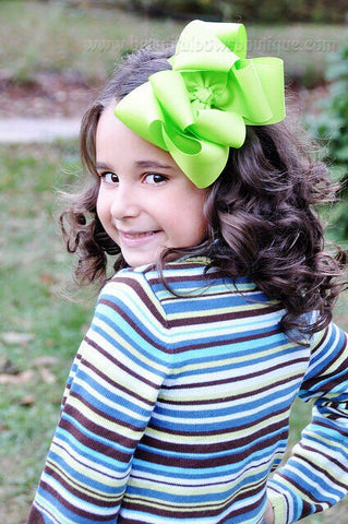 Buy Extra Large Lime Green Hair Bow, Lime Green Hair Bow Texas Size Online