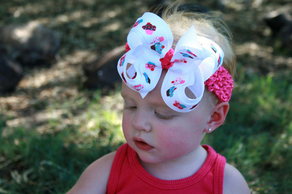 Buy Sweet Cupcake Girls Hair Bow Clip or Headband Online