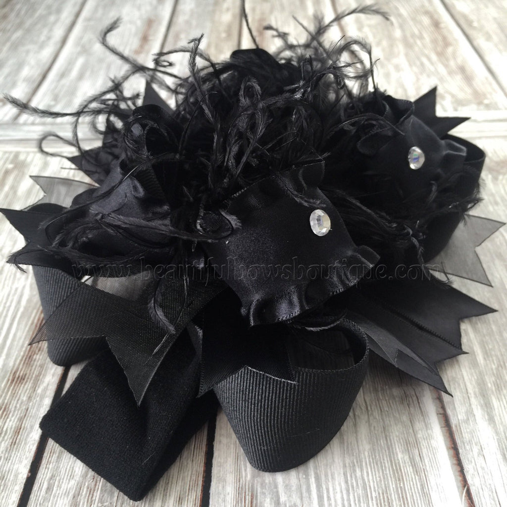 Buy Solid Black Over The Top Hair Bow Baby Headband Black