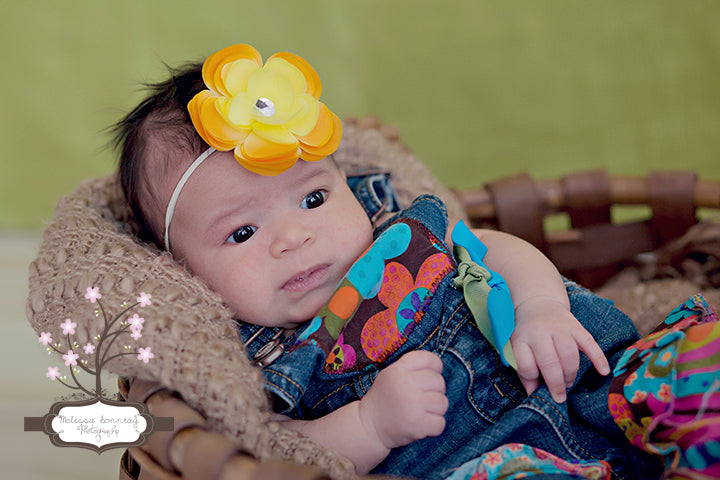 Golden Yellow Sadie Bitty Flower Headband