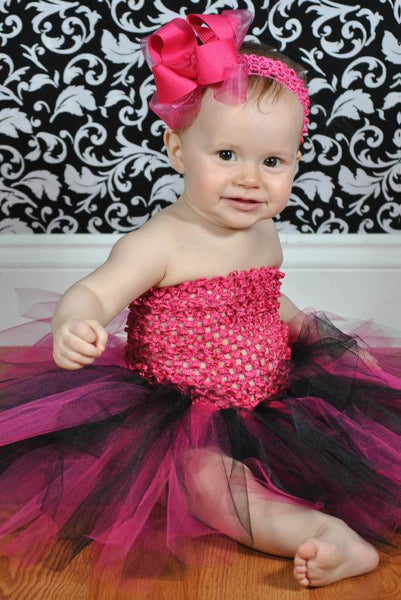 Dazzling Shocking Pink Girls Hair Bow Clip or Baby Headband