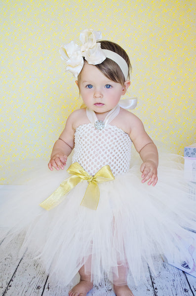 Buy Large Ivory Ruffle Girls Hair Bow Clip or Baby Headband Online