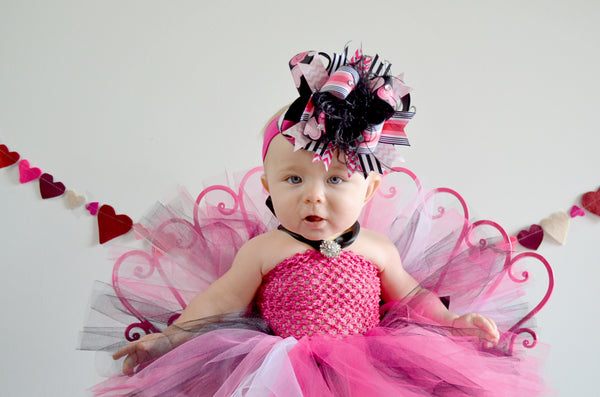 Buy White Black Hot Pink Valentine Tutu Dress for Babies and Toddlers Online
