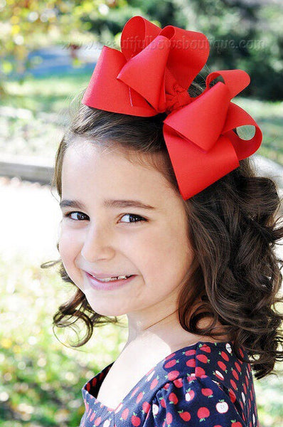 Extra Large Red Hair Bow, Red Hair Bow Texas Size