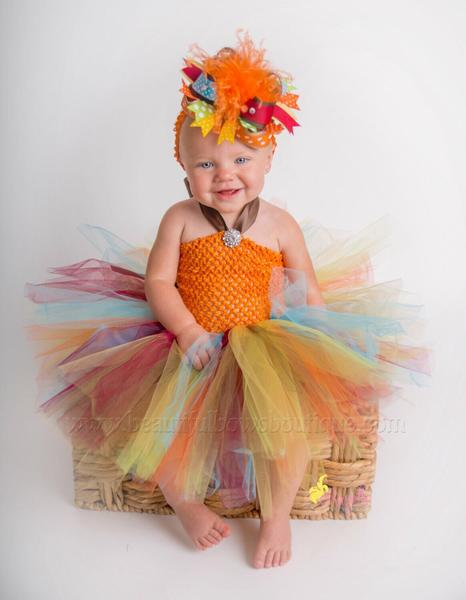 Fall Colors Toddler Baby Tulle Tutu Dress
