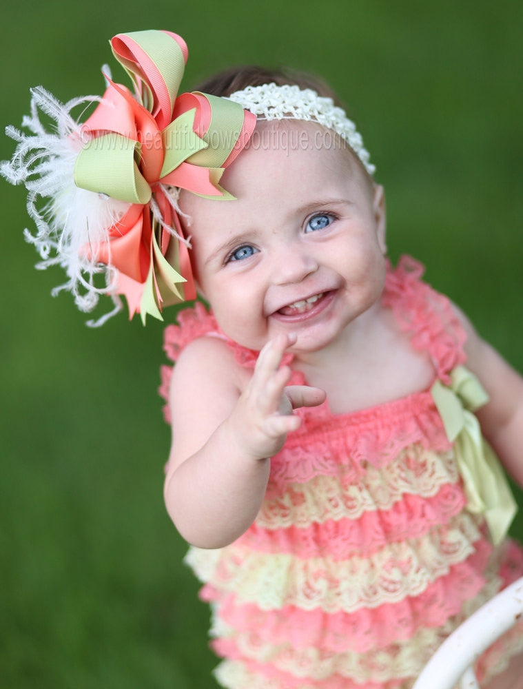 f20268d9b447 ... Buy Girls Coral and Mint Green Baby Romper Online · Buy Girls Coral and Mint  Green Baby Romper Online. Beautiful Bows Boutique