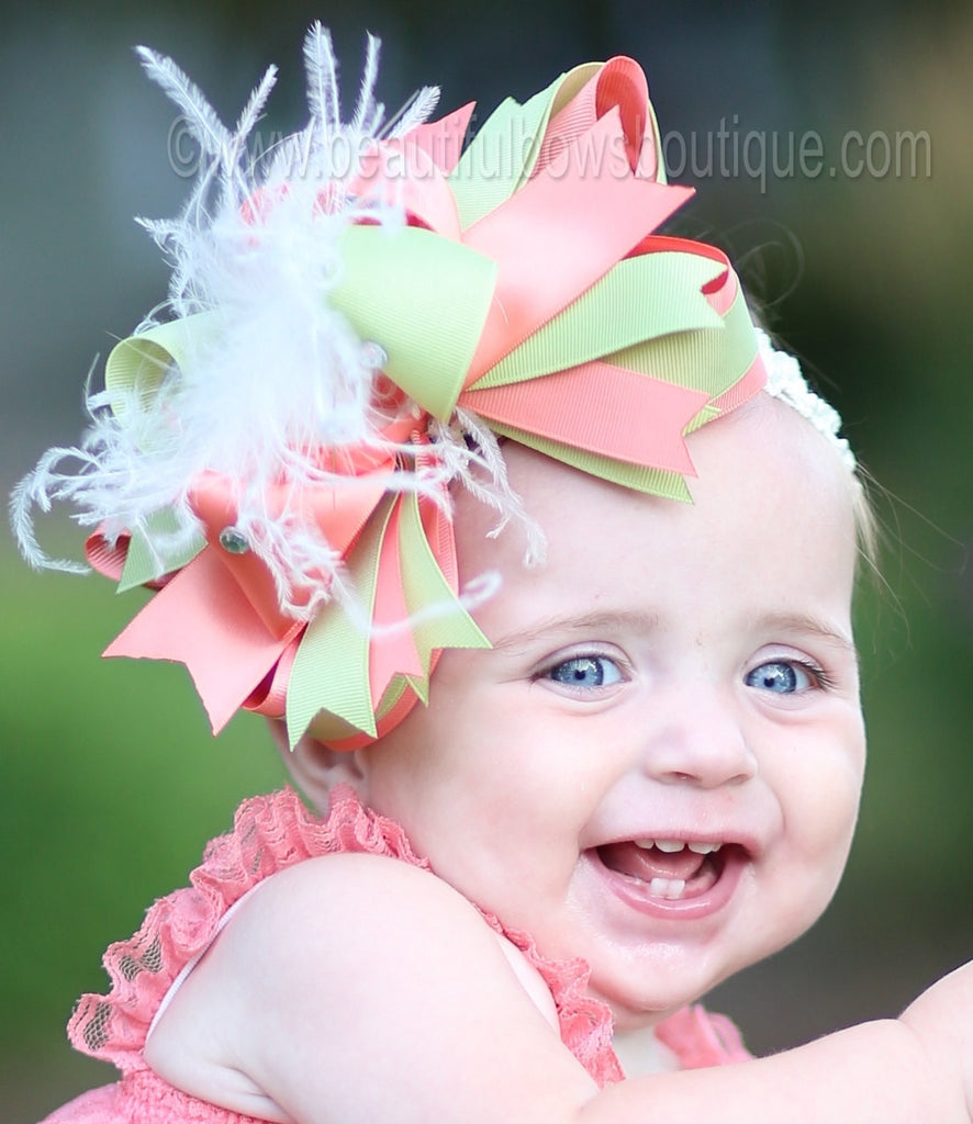 f7863d90a255 ... Buy Girls Coral and Mint Green Baby Romper Online. Beautiful Bows  Boutique