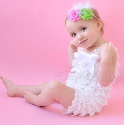 a0d0d9412b0cd Buy Girls Solid White Lace Baby Romper Online at Beautiful Bows Boutique