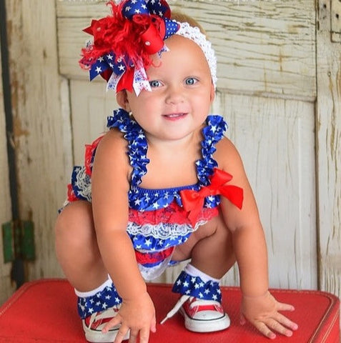 July 4th Baby Romper Outfit