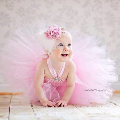 1st Birthday Dress Pink Tutu and Headband