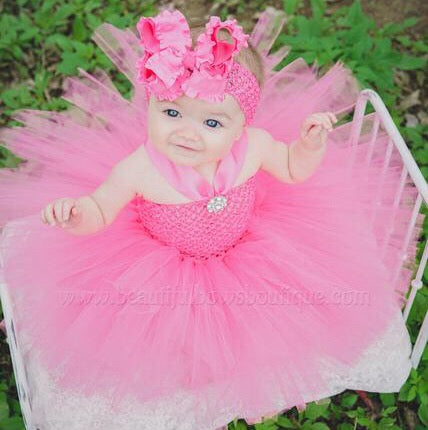 Bubblegum Pink Baby Tutu Dress