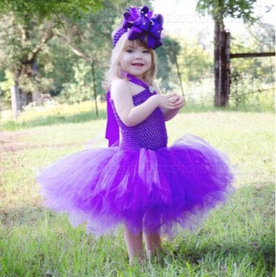 Toddler Purple Tutu Dress Crochet