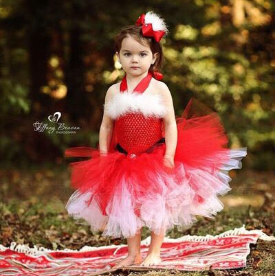 Mrs Claus Tutu Dress Santa Baby Girl Costume