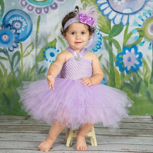 Lavender Baby Tutu Dress Light Purple Orchid