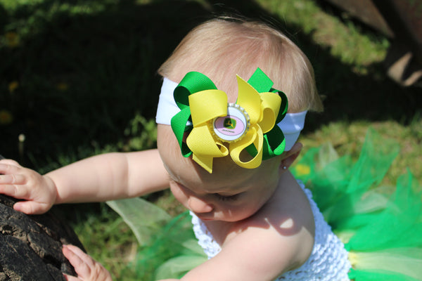 Green Yellow John Deere Infant Toddler Tutu Dress