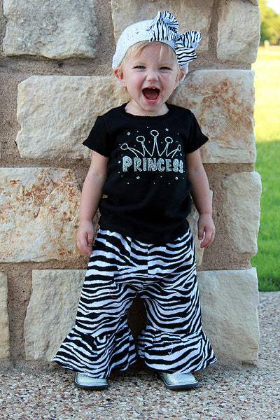 Princess Rhinestone Shirt-Baby Toddler Girl