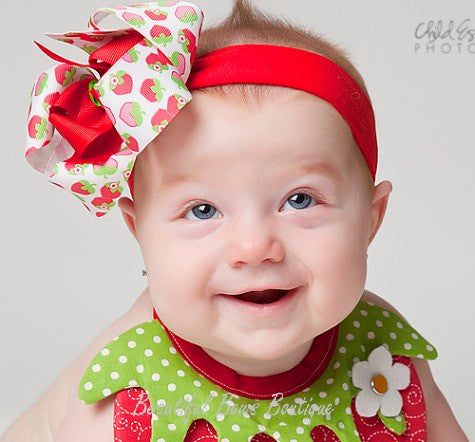 Buy Sweet Strawberry Girls Hair Bow Clip or Baby Headband Online at ... 6082b5d2fea