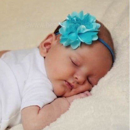 Buy Aqua Flower Baby Toddler Headband Online