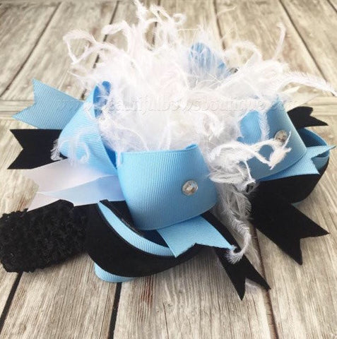Buy Alice in Wonderland Over the Top Hair Bow Online