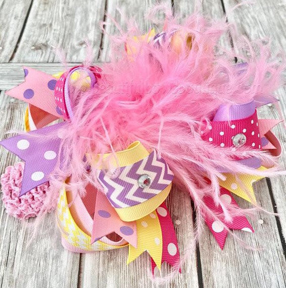 Big Easter Bow Baby Headband Pastel