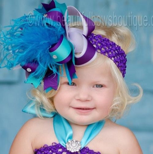 c882c7b35 Buy Big Peacock Boutique Baby Toddler Headband Online at Beautiful ...