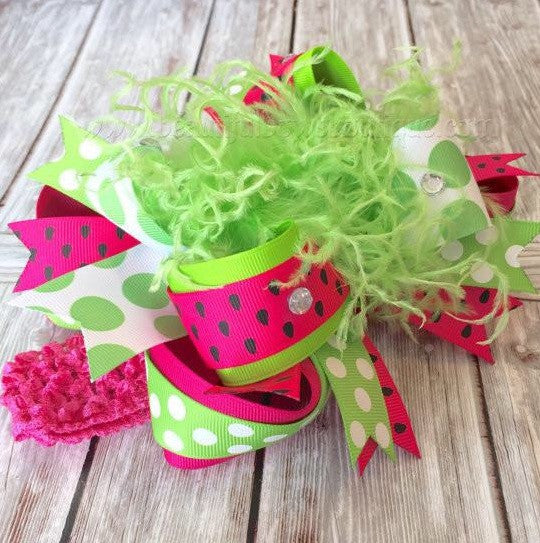 Buy Big Watermelon Hair Bow for Babies and Girls Online