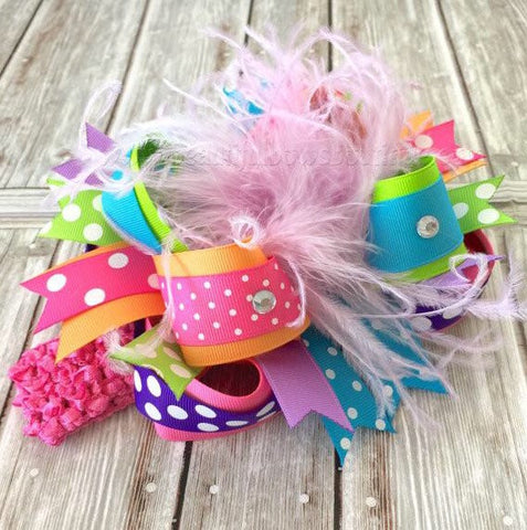 Buy Custom Over the Top Hair Bow, Made to Match Baby Headband Online