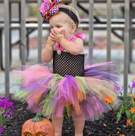 Buy Halloween Bright Fall Crochet Baby Tutu Dress Online