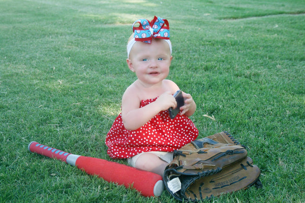 Buy Baseball Girls Hair Bow Clip or Headband Online