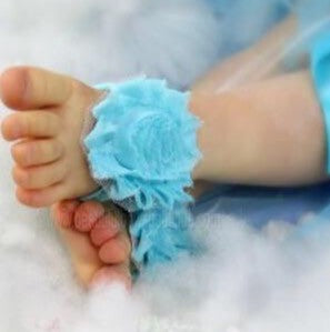 Aqua Blue Barefoot Baby Toe Sandal Shoes