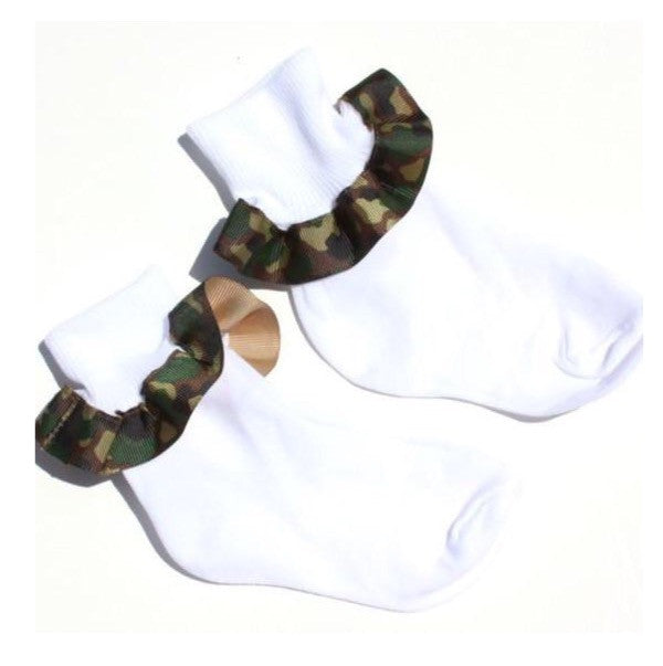 Buy Camouflage Ribbon Ruffle Socks Online