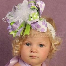 Buy Green and Purple 1st Birthday Big Bow Tinkerbell Inspired Online