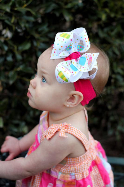 Popsicle Girls Hair Bow Clip or Baby