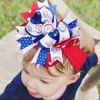 Buy Texas Rangers Hair Bow, Rangers Baby Headband Infant Toddler Online