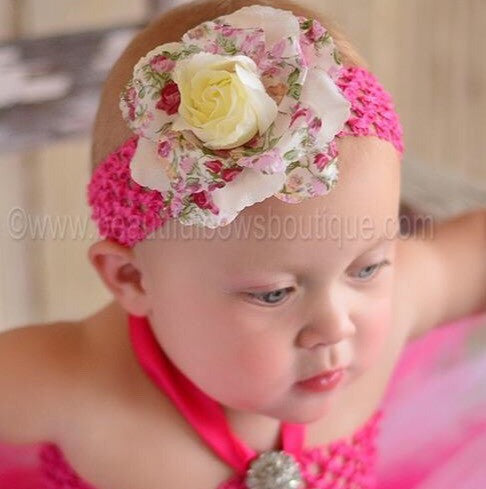 Floral Ivory Flower Clip or Headband