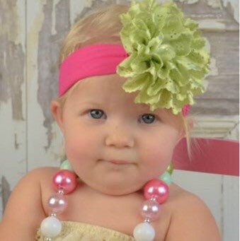 Light Green Lace Baby Flower Headband