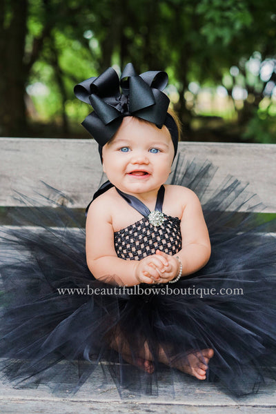 Buy Black Baby Headband, Large Black Hair Bow Toddler Online