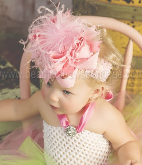 Buy Big Boutique Large Pink Bow Headband Online