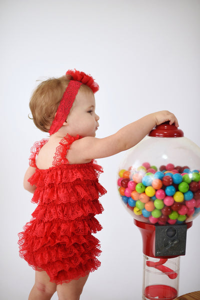 Buy Red 1st Birthday Girl Outfit,First Birthday Outfit ,Red Romper Online